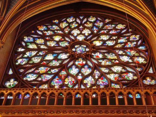 Christian Mandalas Rose Window Sainte Chapelle Chapel in Paris