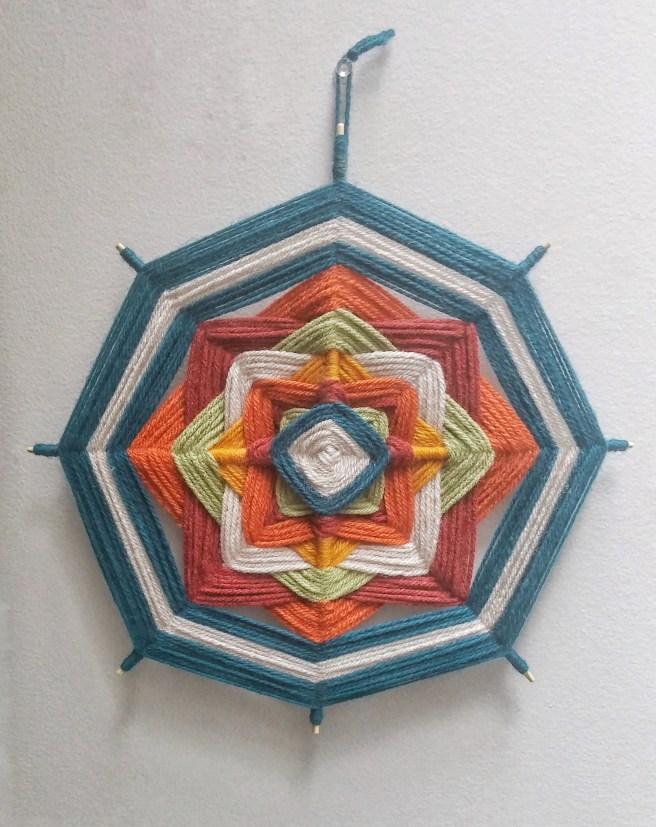yarn mandala diy craft project kids