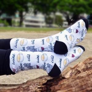 zazzle socks cat pattern print