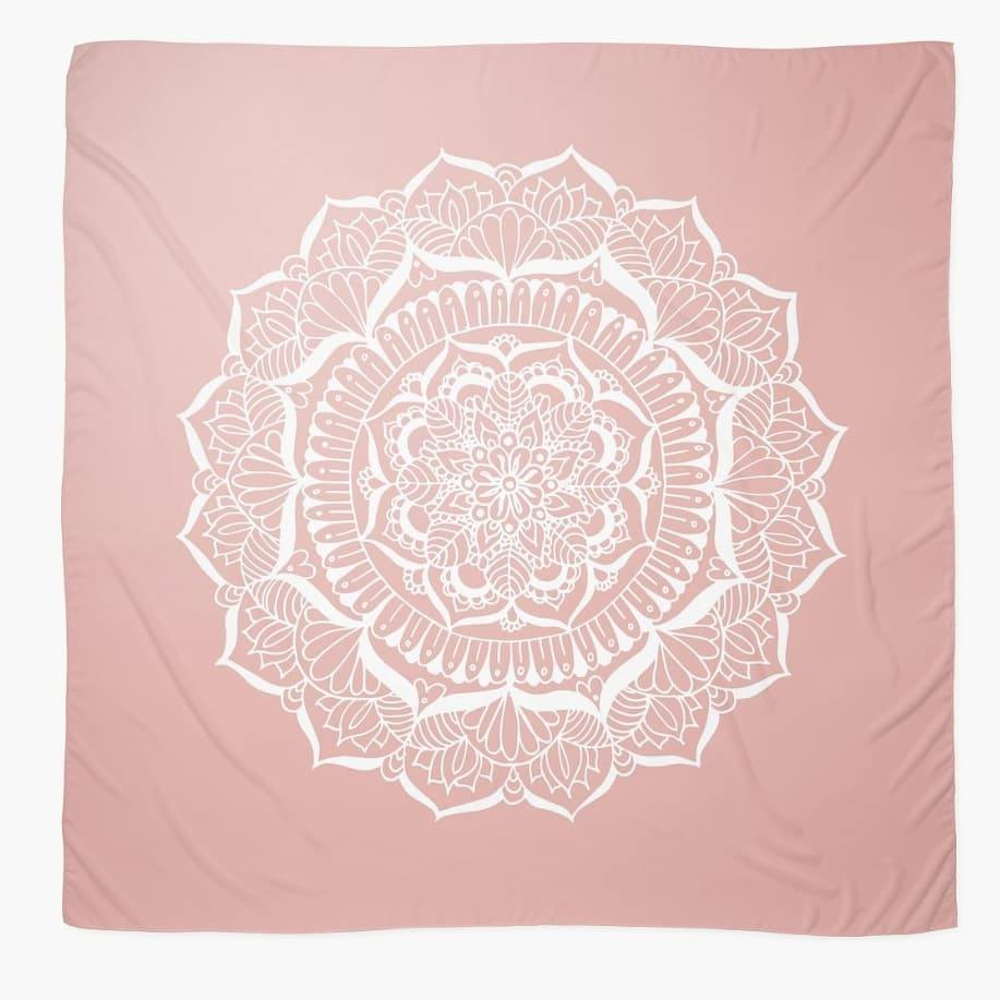 redbubble scarves pink flower design