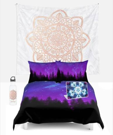 mandala tapestry bedding bedroom
