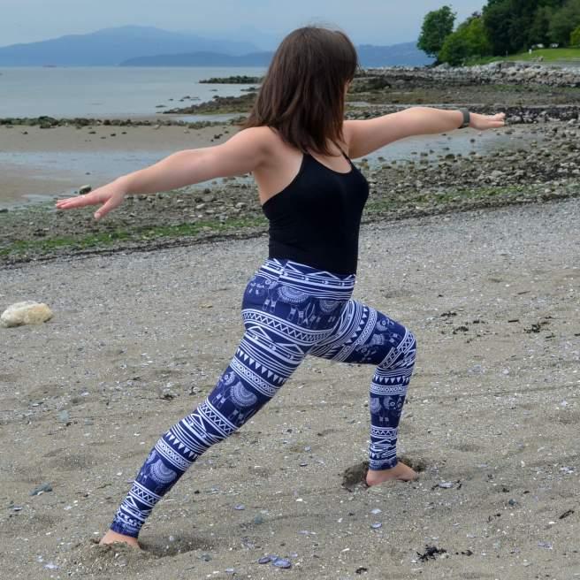 yoga leggings society6 elephant design