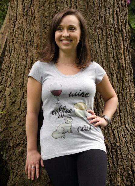 wine coffee cats tshirt (1)