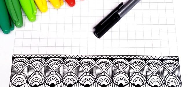mandala grid pattern worksheet