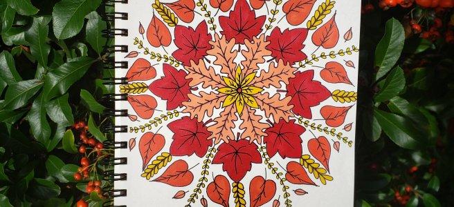 #mandalatober2019 autumn fall mandala drawing