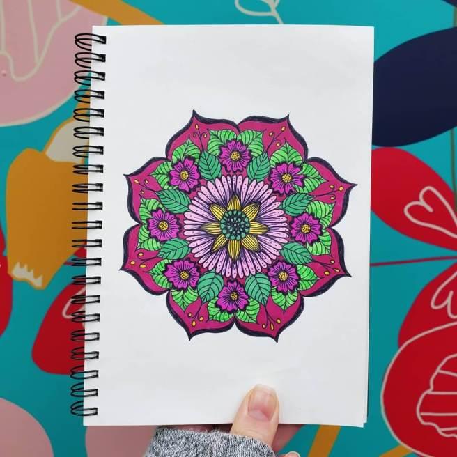 flower mandala mandalatober2019
