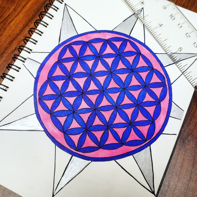 mandalatober geometric flower of life mandala drawing