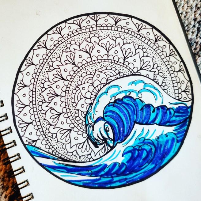 ocean wave mandala #mandalatober2019
