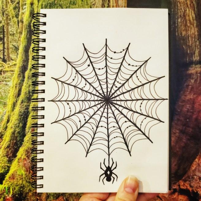 spider mandala #mandalatober2019