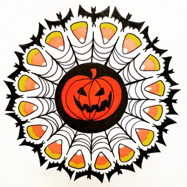 halloween mandala mandalatober19