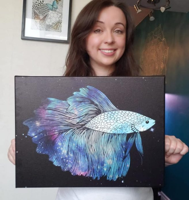 betta fish canvas art print