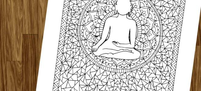 buddha mandala free download adult coloring page