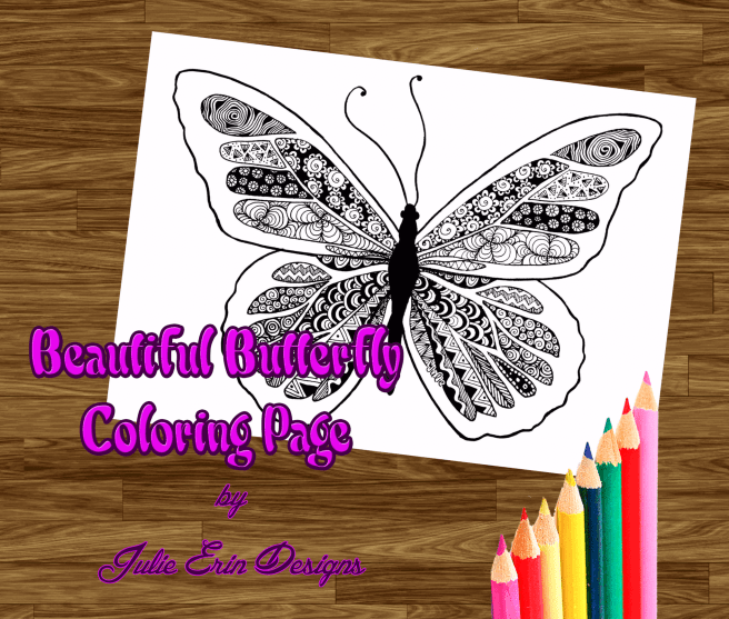 butterfly coloring page preview