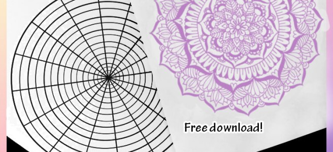 complex mandala drawing template