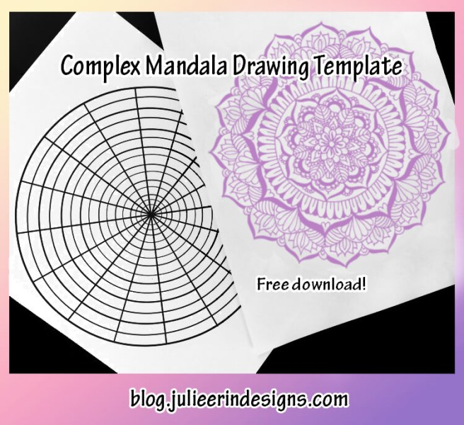complex mandala drawing template worksheet