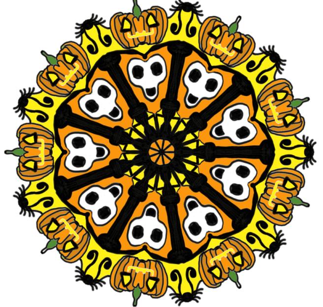 grammasheri halloween mandala