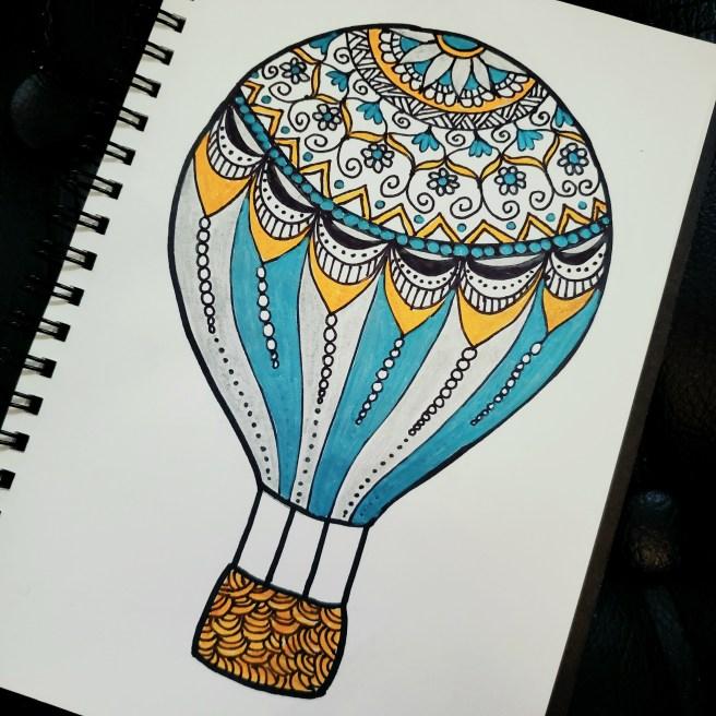 hot air balloon mandala mandalatober 2020