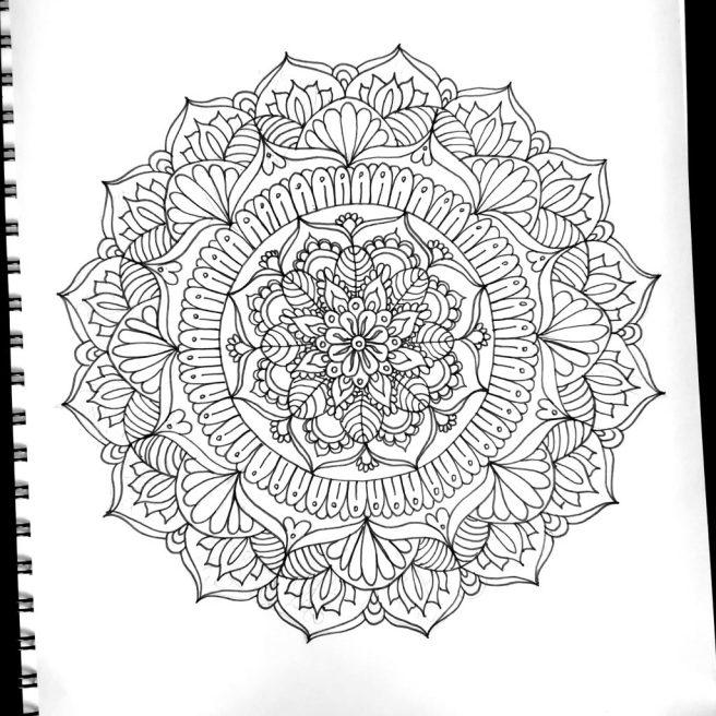mandalas template diy art drawing