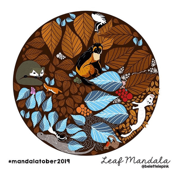 leaf mandala belettelepink mandalatober
