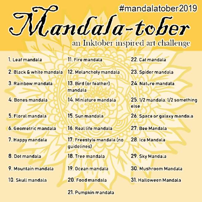 mandalatober mandala art drawing challenge