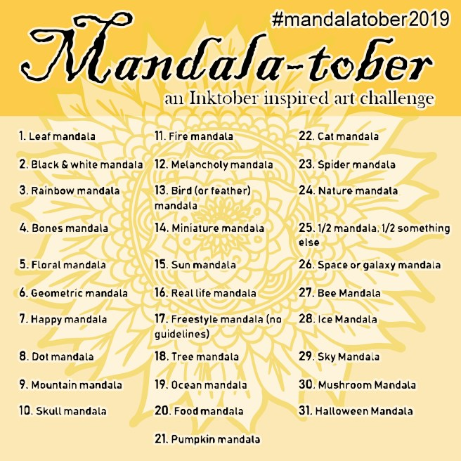 mandalatober2019 mandala art drawing challenge