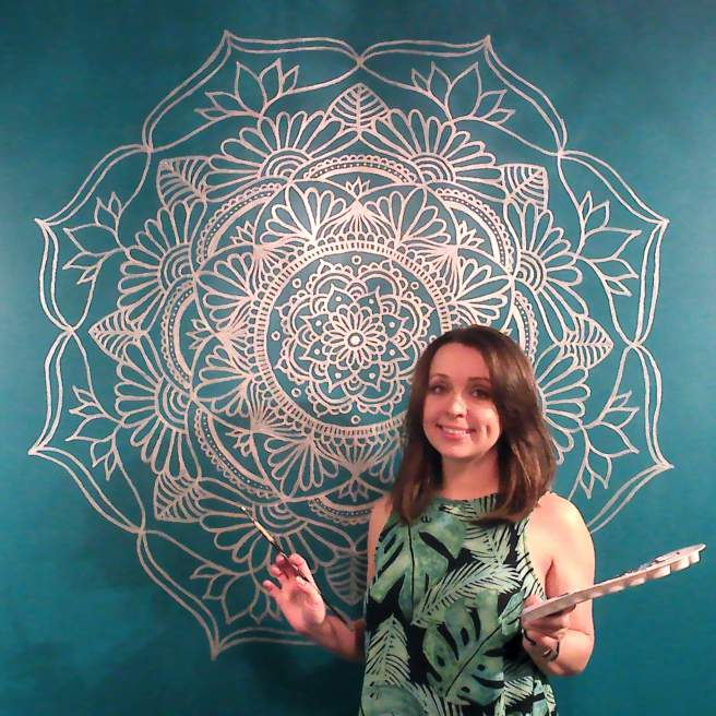 mandala large scale paintings