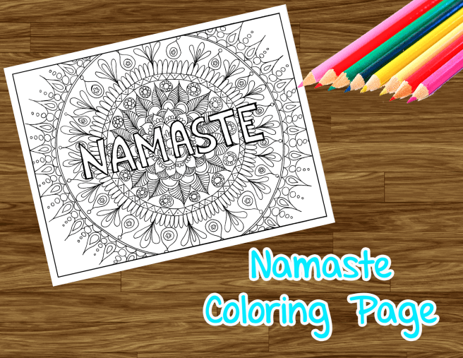 adult coloring page namaste mandala colouring free download