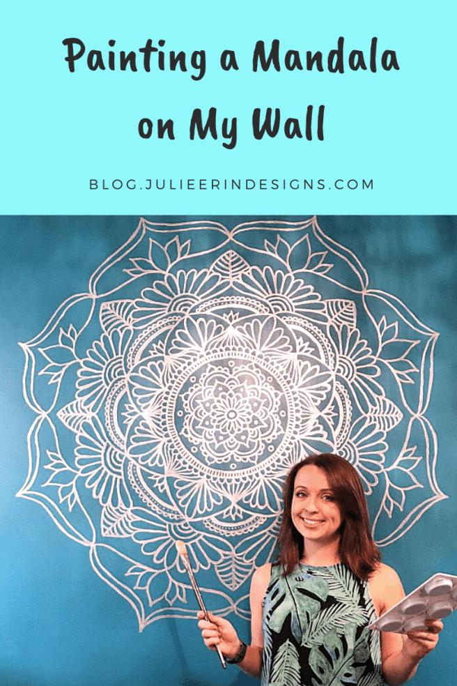 mandala wall mural art