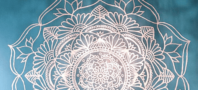 mandala wall mural art