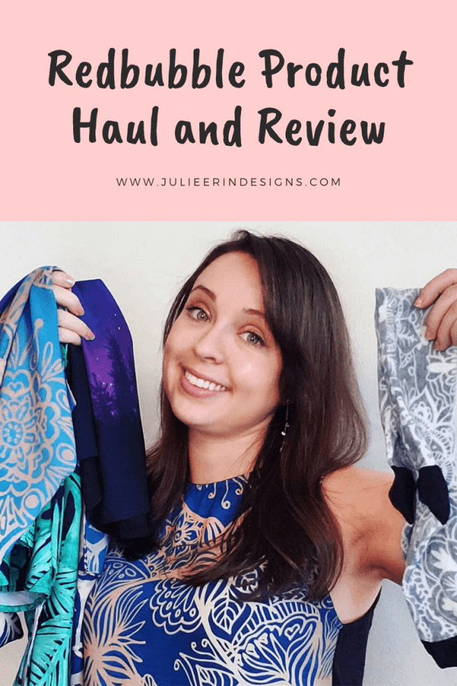 redbubble product haul and review