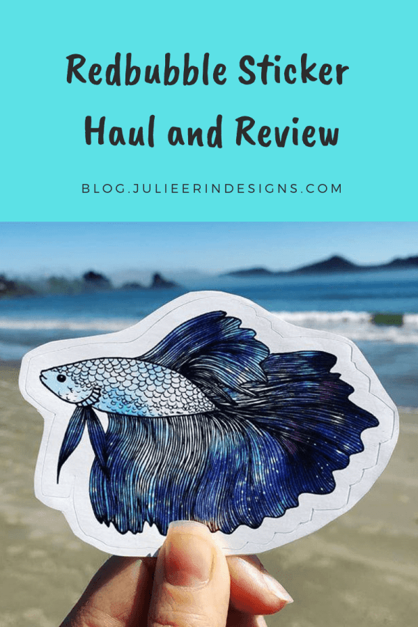 redbubble stickers haul and review