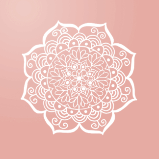 rose pink gold mandala popsocket