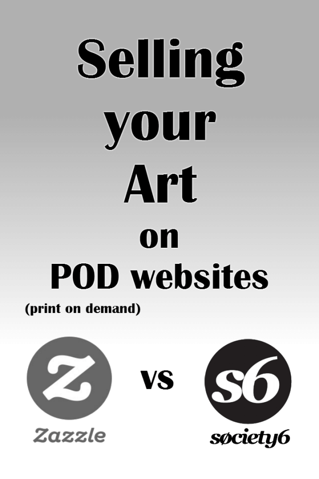 selling art print on demand zazzle vs society6