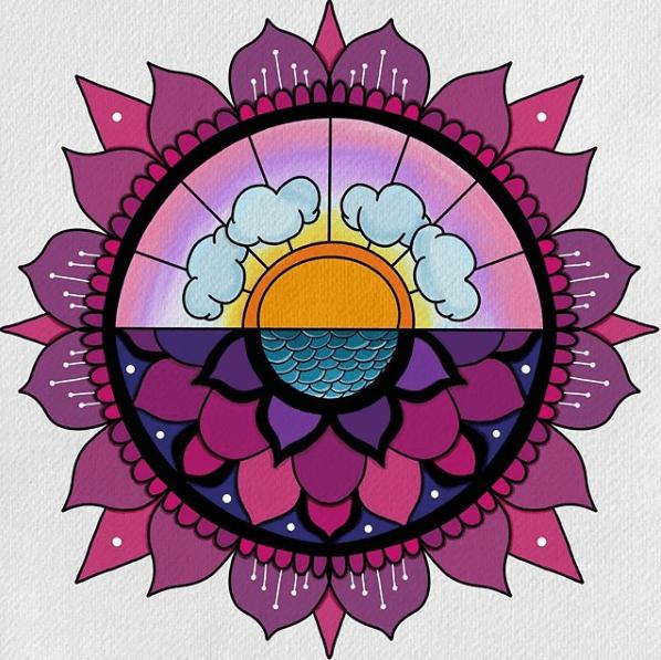 mandalatober sky and sunset mandala