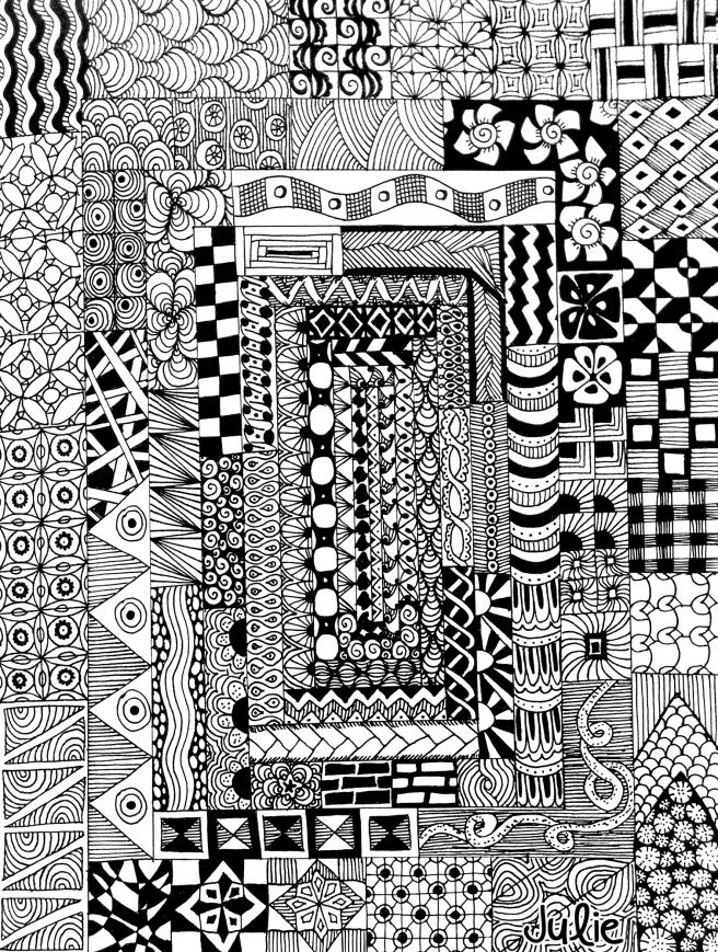 tangled all the way around zentangle art