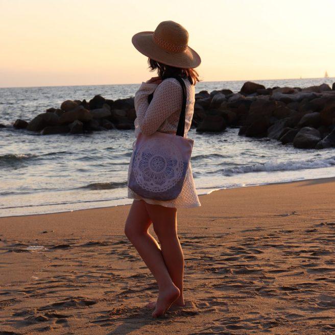 woman modeling beach sunset puerto vallarta mexico