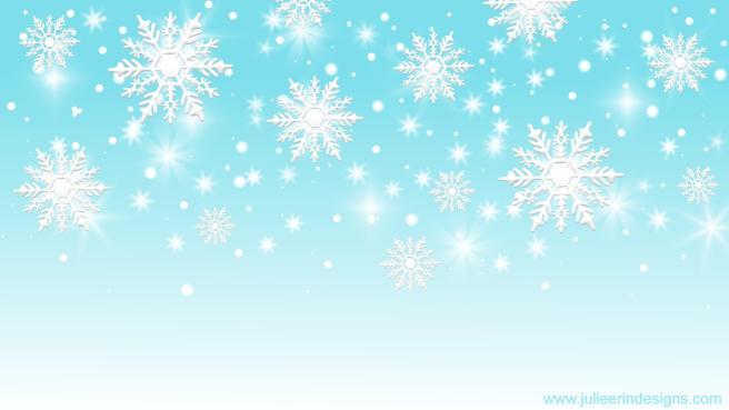 winter snowflakes zoom teams virtual background