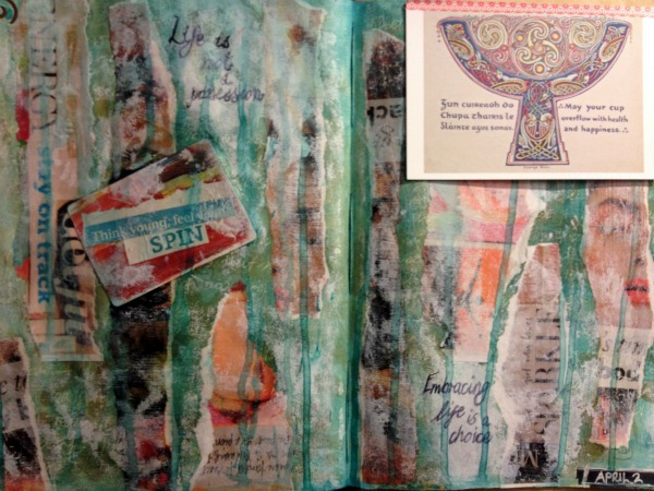 Healthy Habits : An Art Journal Page