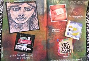 help from friends art journal