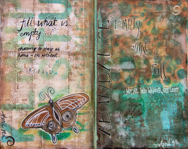 retreat art journal