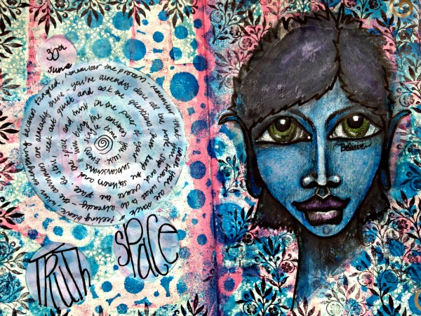 How to create a quick mixed media art journal spread