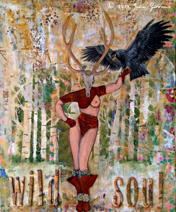 wild soul collage mixed media