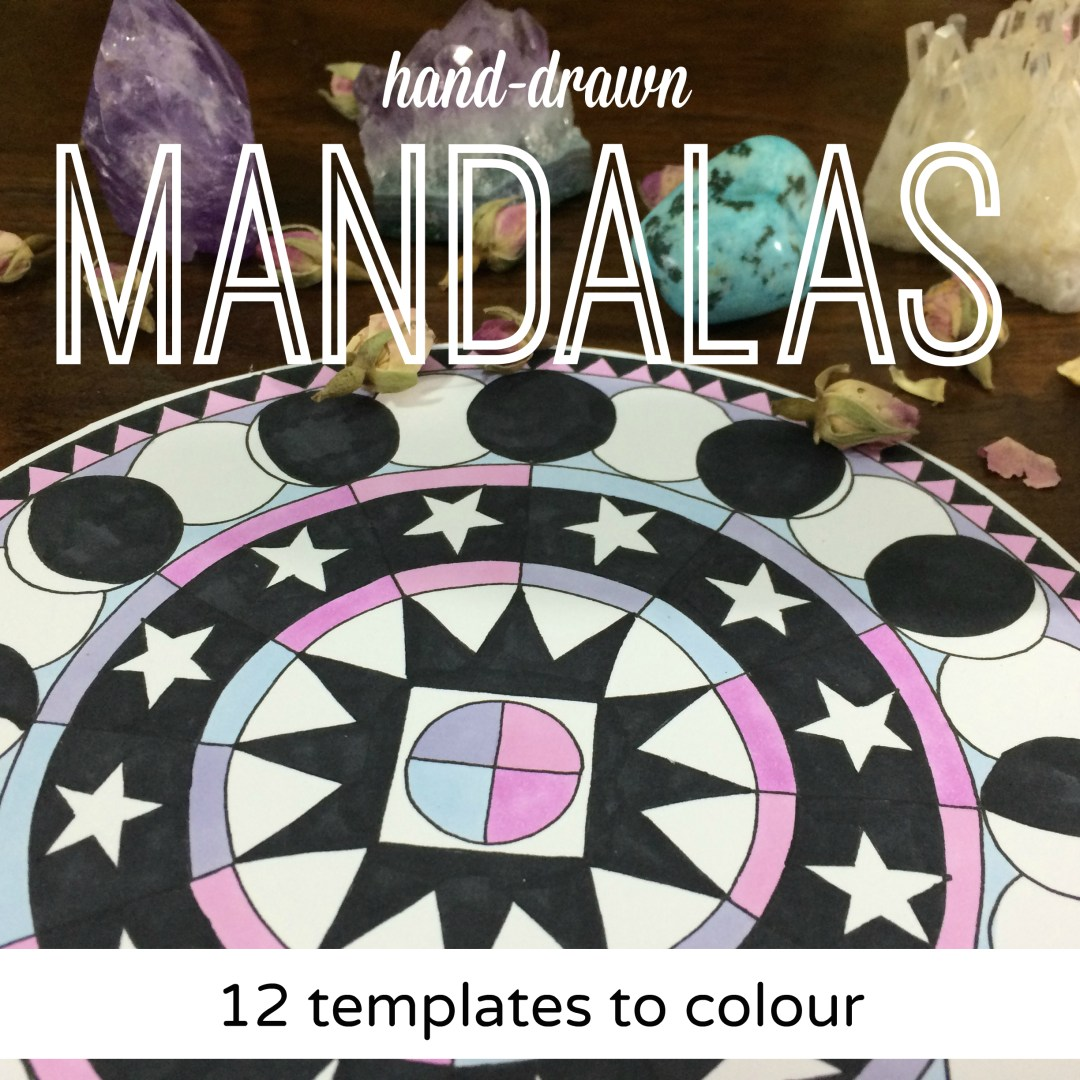 12 Mandala Templates to Colour