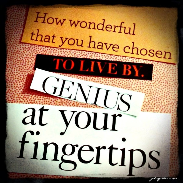 Genius at your Fingertips