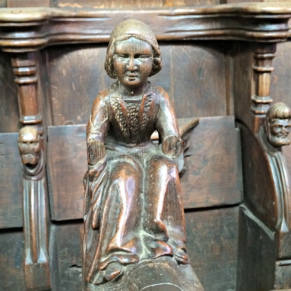 wooden church stall carving