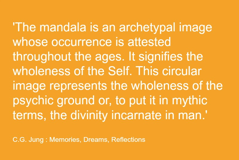 Carl Jung Mandala Quote