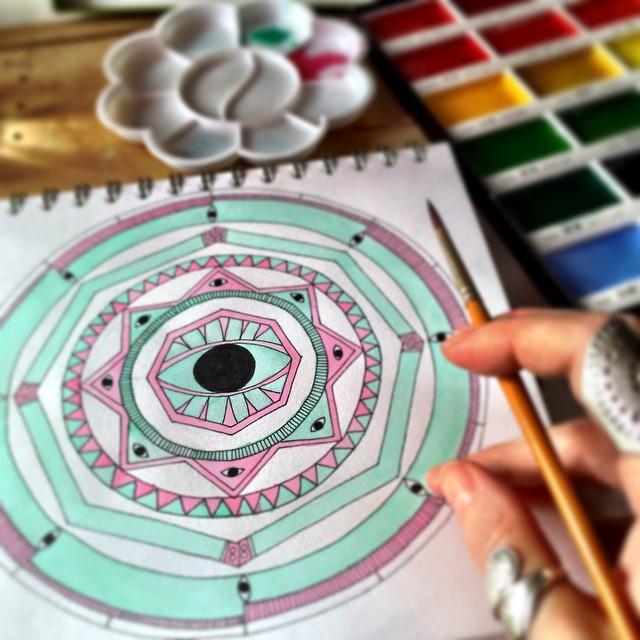 all seeing eye mandala image