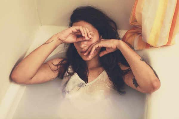 Woman in bath image