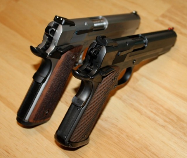 Sw Pro Series 9mm 1911 Stock Stainless Pete Single Custom Ion Bond Black