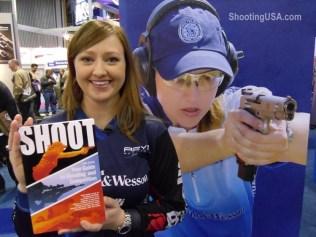 Julie Shows Off SHOOT at SHOT - Photo Courtesy of Shooting USA